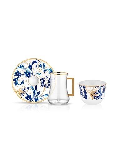 Koleksiyon Dervish Kulplu Gawa 6'lı Çay Seti Karina Renkli